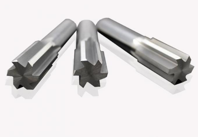 Straight Flute Solid Carbide Reamers , Tungsten Carbide Reamer For Metal