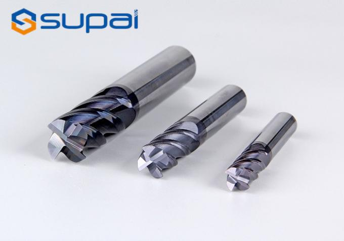 TiAin Coating Carbide Square End Mill For Stainless Steel 10mm 2 / 4 Flutes