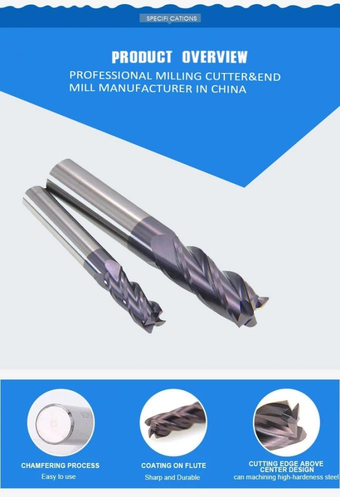 Internal Cold Hole Carbide Drill Precision Cutting Tools For CNC Machine
