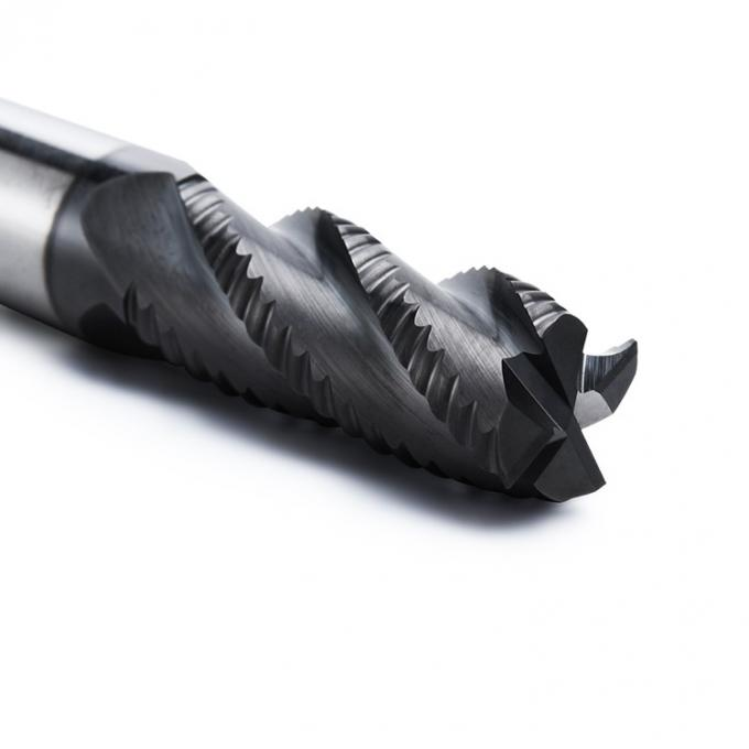 Solid Carbide Roughing Single End Mill Center Cutting 3 / 4 Flute With Rougher Corrugated Edge