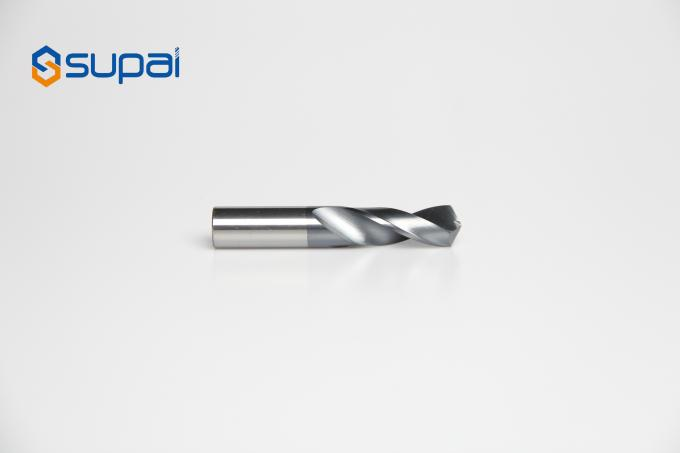 Wear Resistance CNC Milling Drill / Solid Carbide Drills Twist Drills For Steel