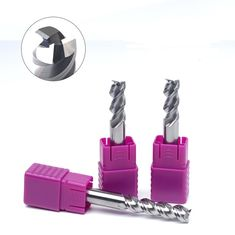 China High Performance End Mills For Aluminum , Single Flute End Mill Aluminum 1-20mm factory