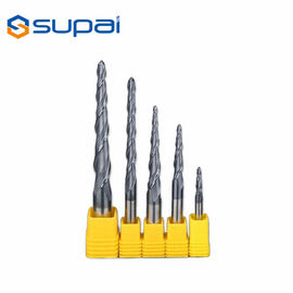 China 45 Degree Tapered End Mills For Wood , Carbide Tapered Ball End Mills supplier