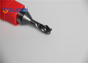Solid Carbide 4 Flutes Cutting Tools / Precision Custom End Mill Drill Bit