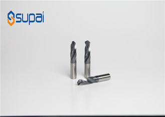 CNC Process 2 Flute Aluminum Cutting End Mills With Coating Custom Made