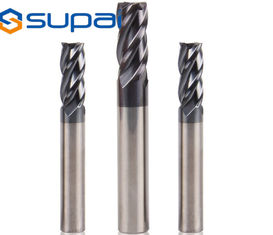 0.2-20mm Carbide Square End Mill For Metal Wood Tin AlTin NANO Coating