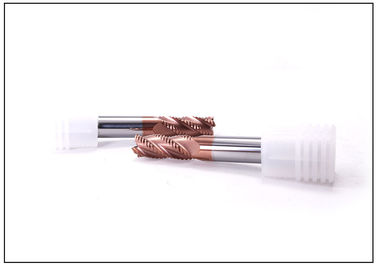 4 Flute AlTiN Coating HRC50 Roughing End Mill 0.6 - 0.8 Um Grain Size Carbide Cutting Tools For Metal