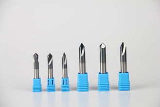 High Precision Solid Carbide Chamfer Drill Bit 6mm 90º 0.6 - 0.8 UM Grain Size High Hardness
