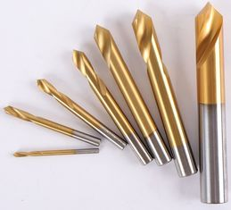China 90 Degree Carbide End Mill Countersink Chamfer Drill Bits Center Spotting Titanium Cobalt factory