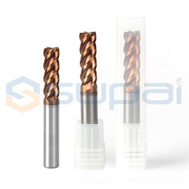High Hardness Square End Mill For Carbon Steel / Alloy Steel / Cast Iron