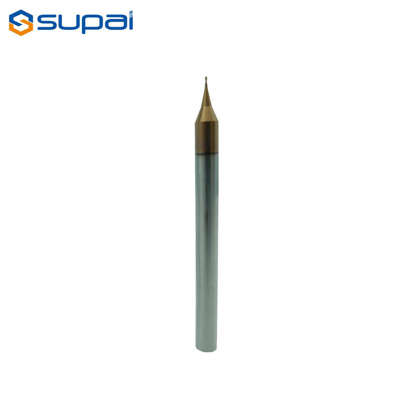 High Hardness Micro Carbide Roughing End Mills 0.5mm AlTiN Coating supplier