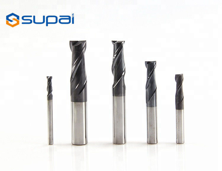 Cemented 2 3 4 6 Flute Tapered End Mills , Tungsten Carbide End Mill supplier
