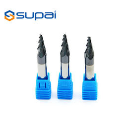 China High Speed Tapered Ball Nose End Mill CNC Milling Cutters Customized Length factory
