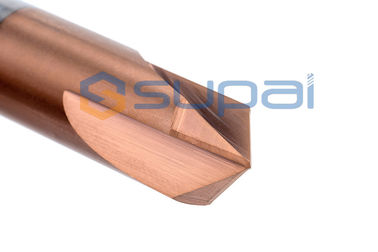 China HRC45 HRC50 HRC60 High Performance 30 Degree Chamfer End Mill for Machining Wood factory